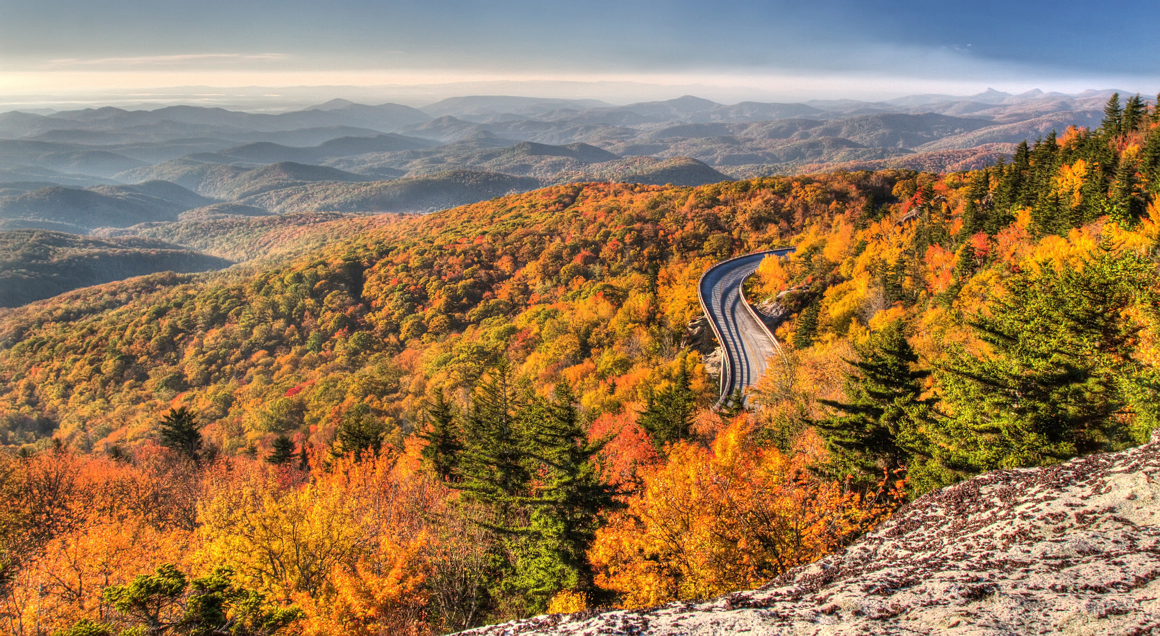 Fall foliage along the Blue Ridge Parkway.