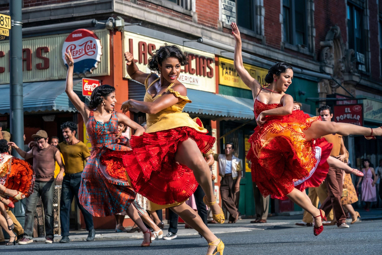 People dancing in the street