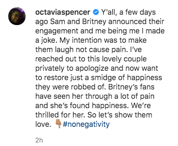 Y'all, a few days ago Sam and Britney announced their engagement and me being me I made a joke. My intention was to make them laugh not cause pain