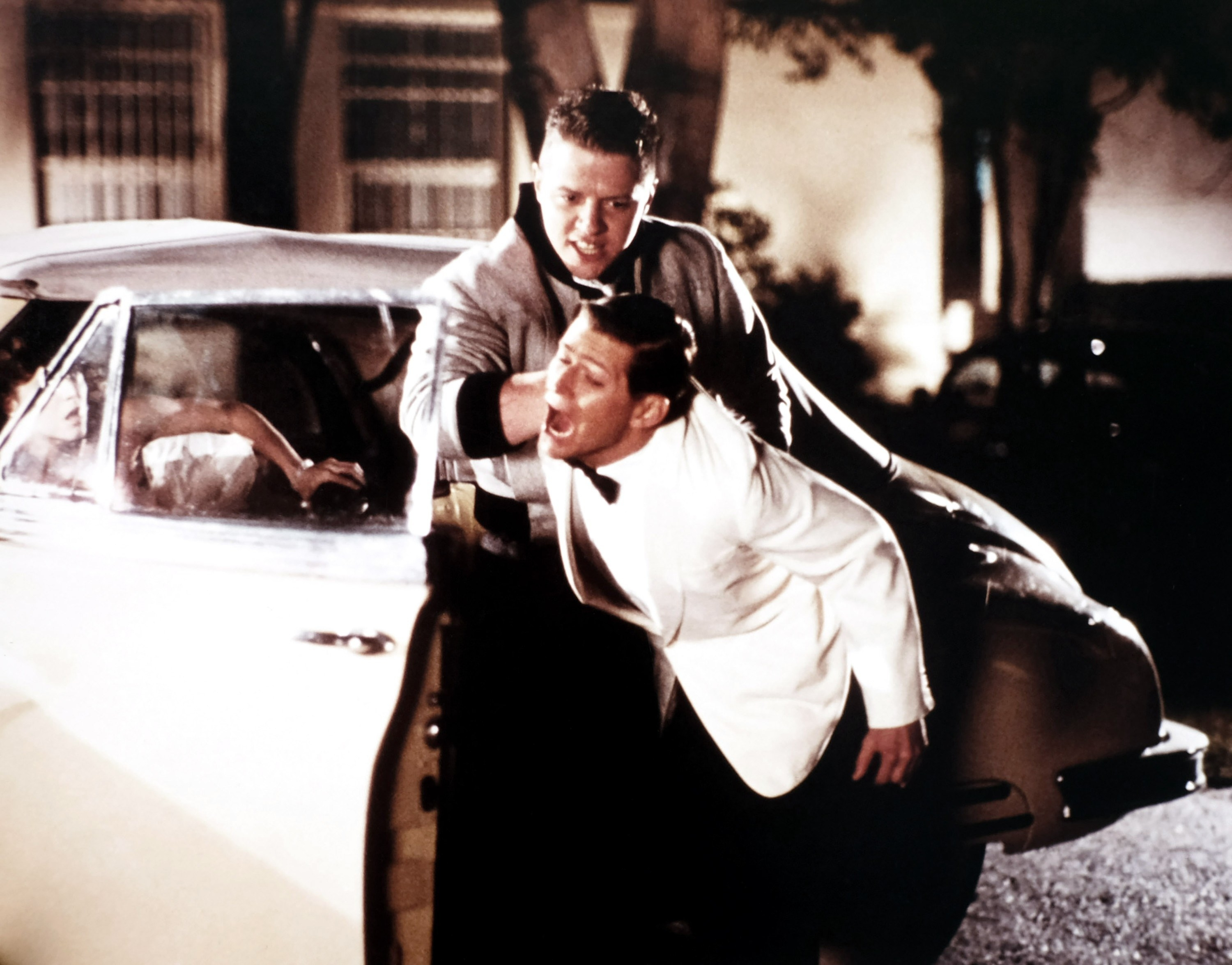 Biff throws Marty's dad out of the car