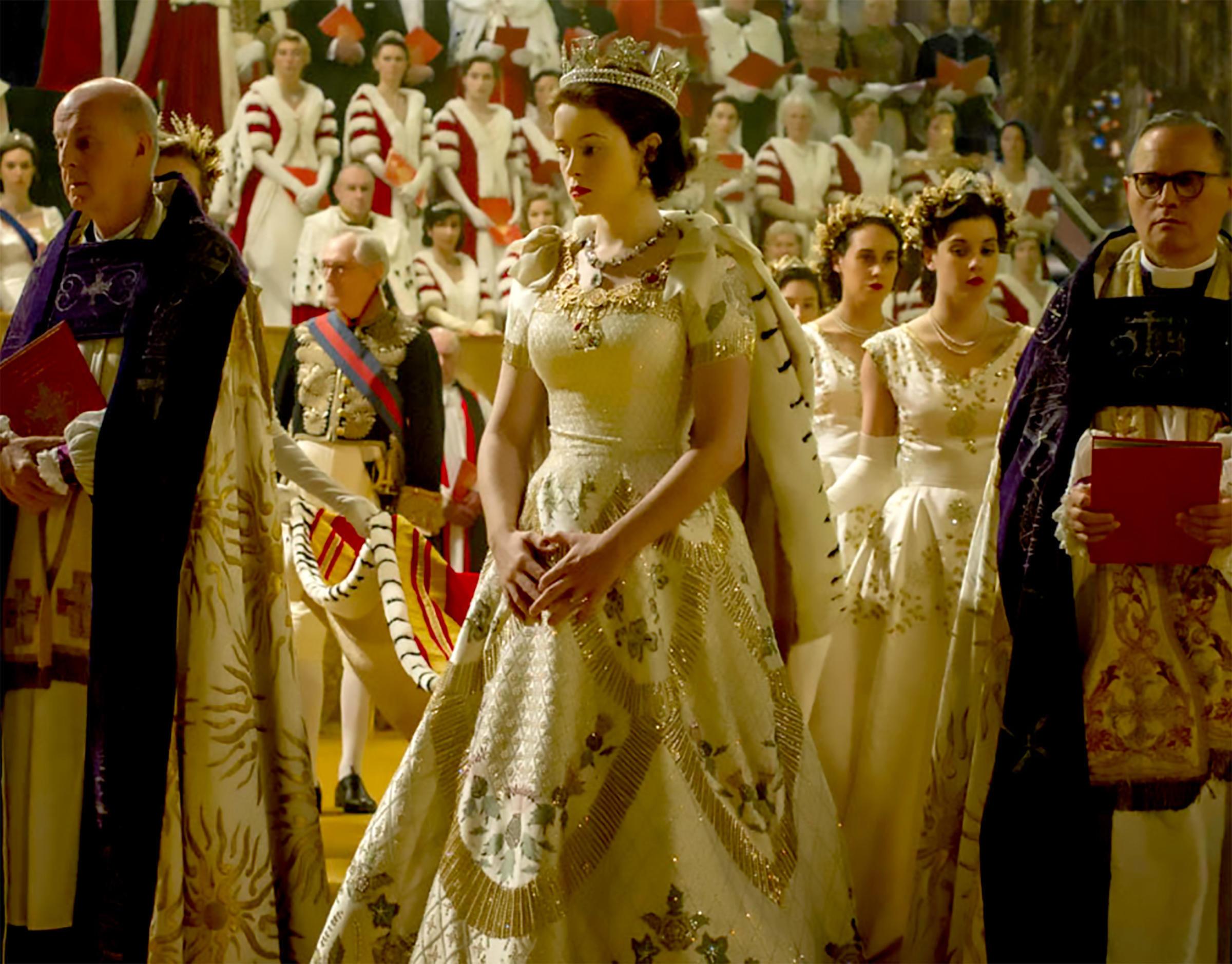 Queen Elizabeth in a gown