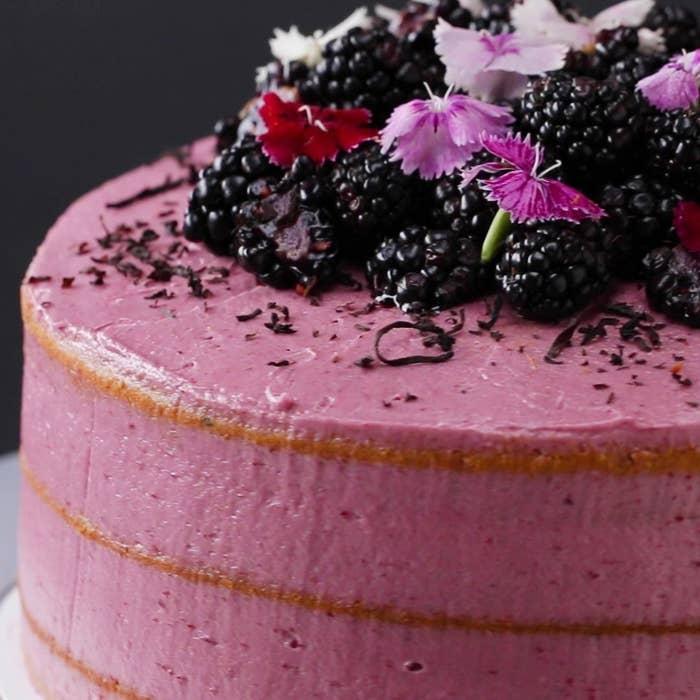 Earl Grey Blackberry Cake