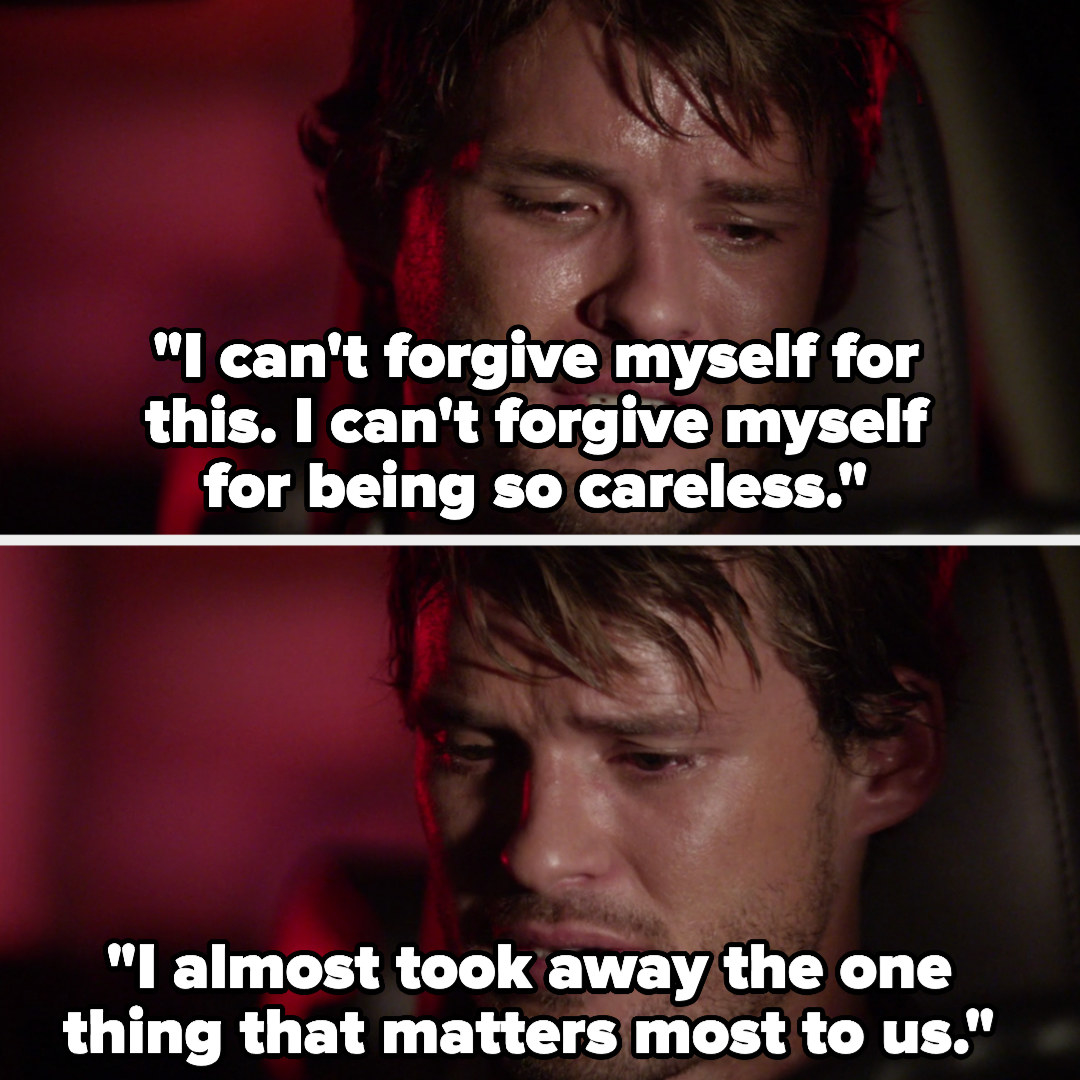 """Julian crying to Brooke: """"I can't forgive myself for this, I almost took away the one thing that matters most to us"""""""
