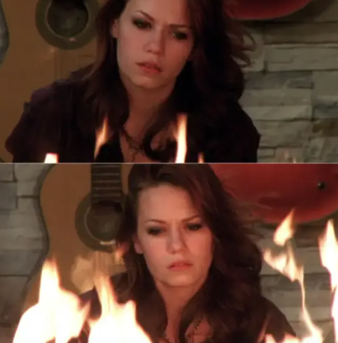 Haley almost burns the house down