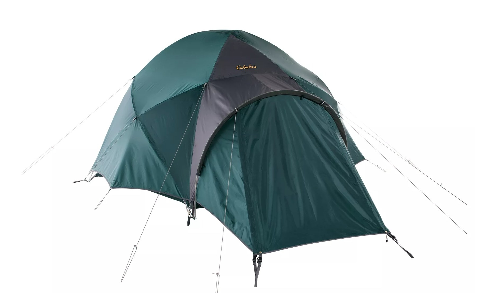 the four-person tent in teal