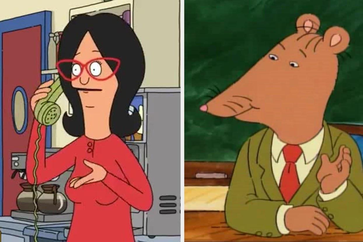 "Bob's Burgers Linda and Mr. Ratburn from ""Arthur"""