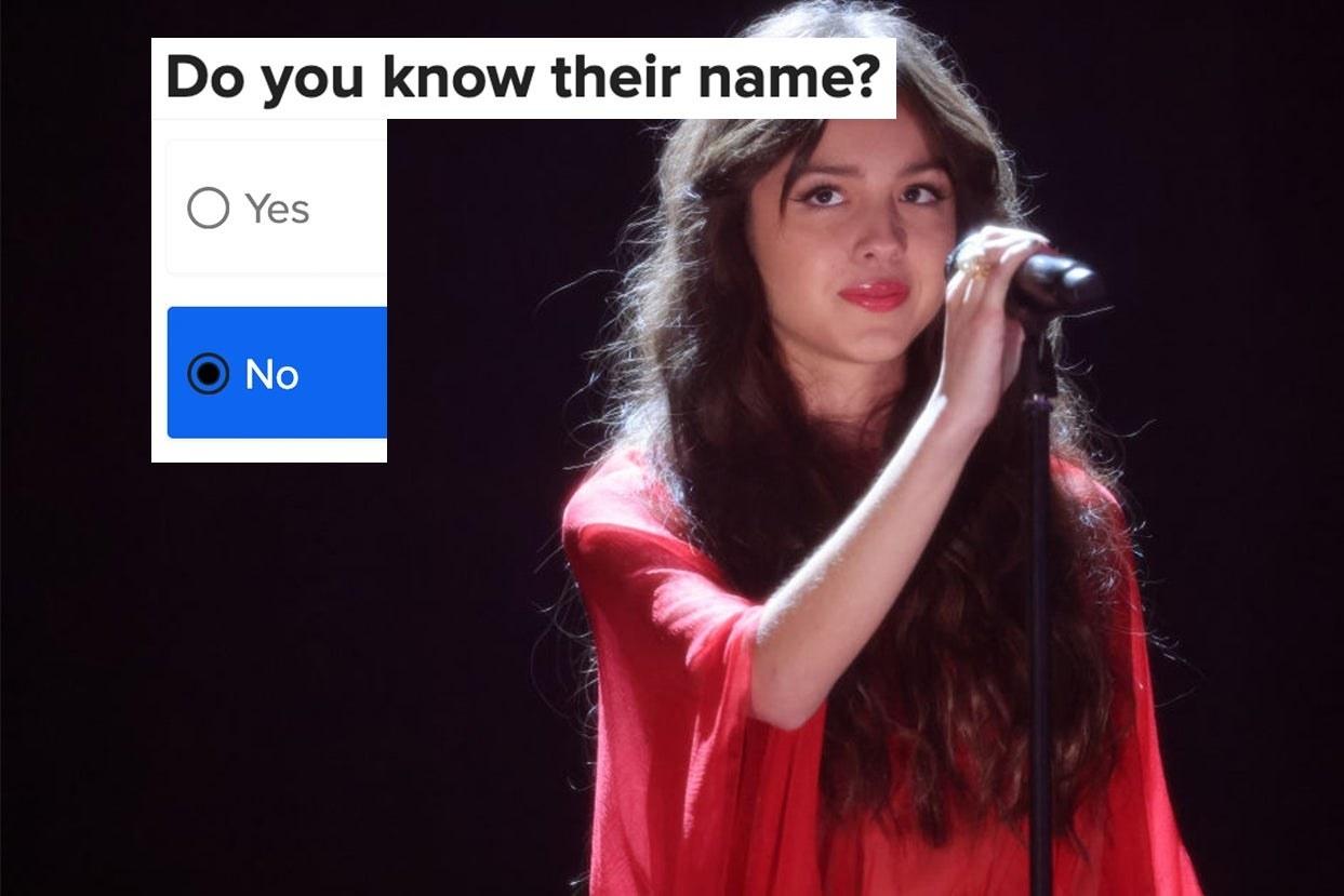 """Olivia Rodrigo with the words """"Do you know their name?"""""""