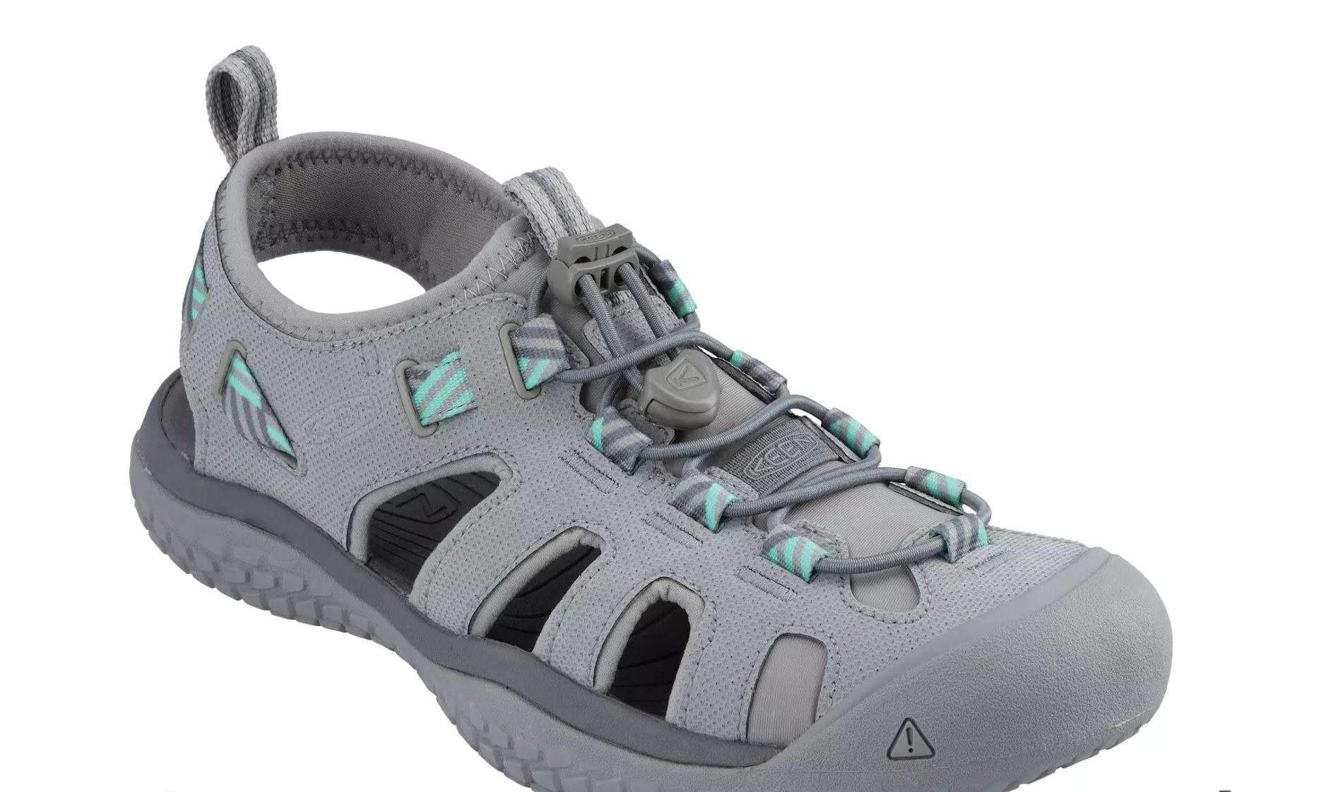 the pair of Keen whisper sandals in gray