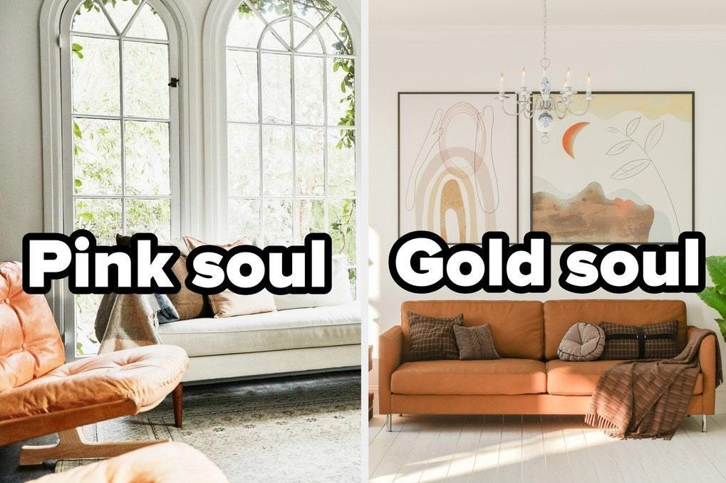 Pink soul or gold soul living room