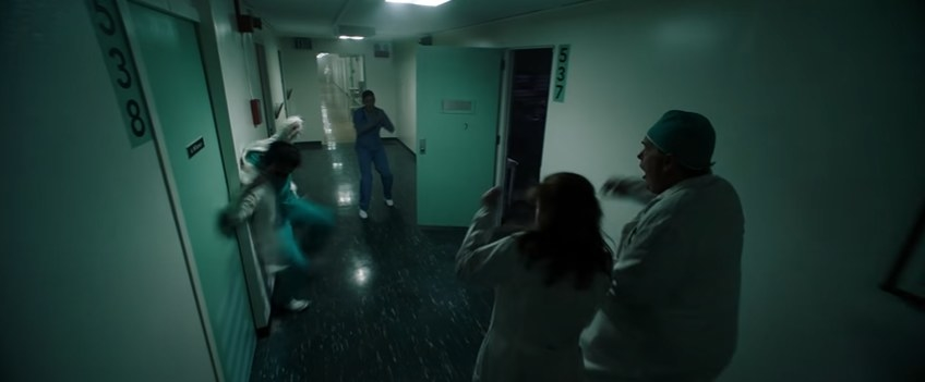 Doctor being tossed into a wall