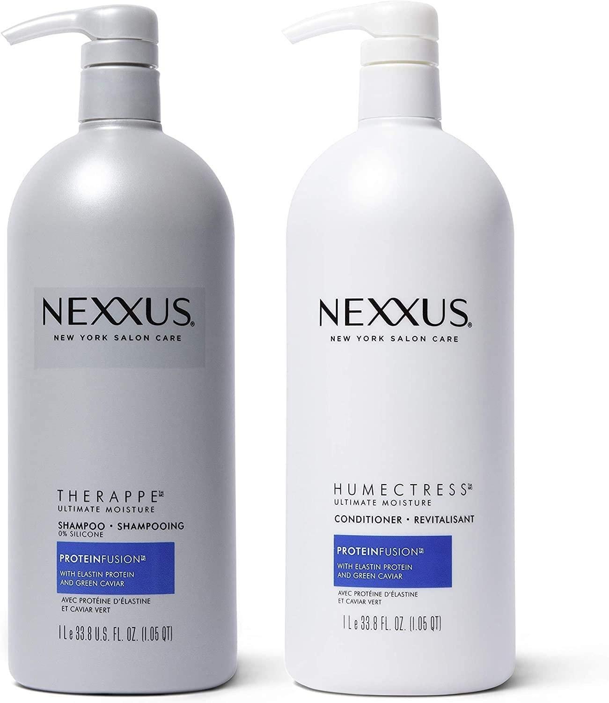 Champú y acondicionador para terapia de cabello dañado