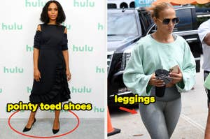 Women are tired of seeing pointy toed shoes and leggings