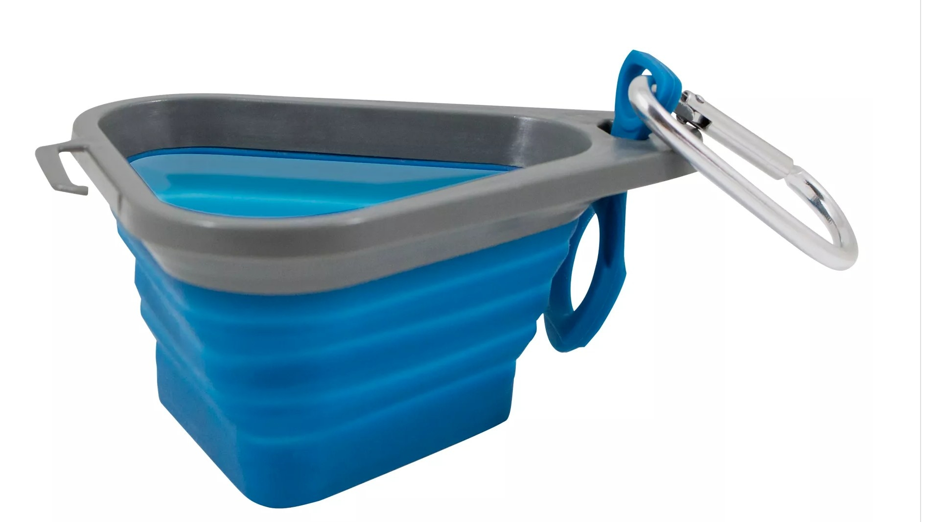 the collapsible dog bowl in blue