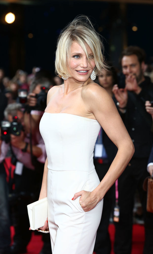 Cameron Diaz attends the UK film premiere of 'What To Expect When You're Expecting'