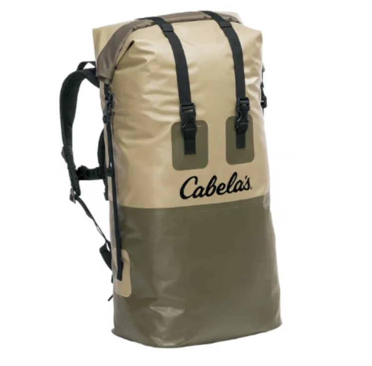 the backpack in green and khaki
