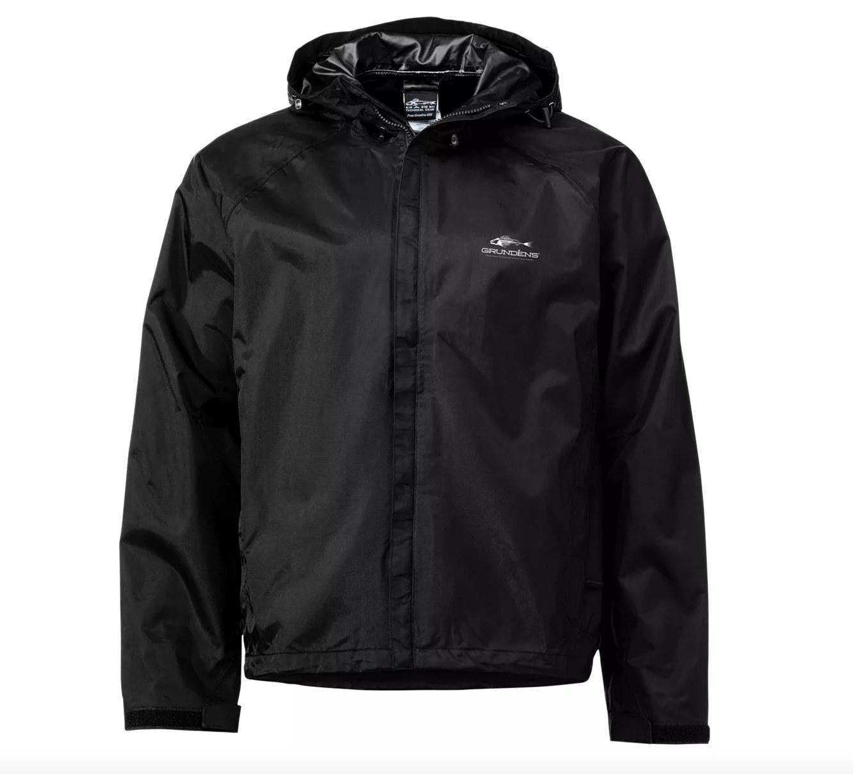 the hooded rain jacket in black
