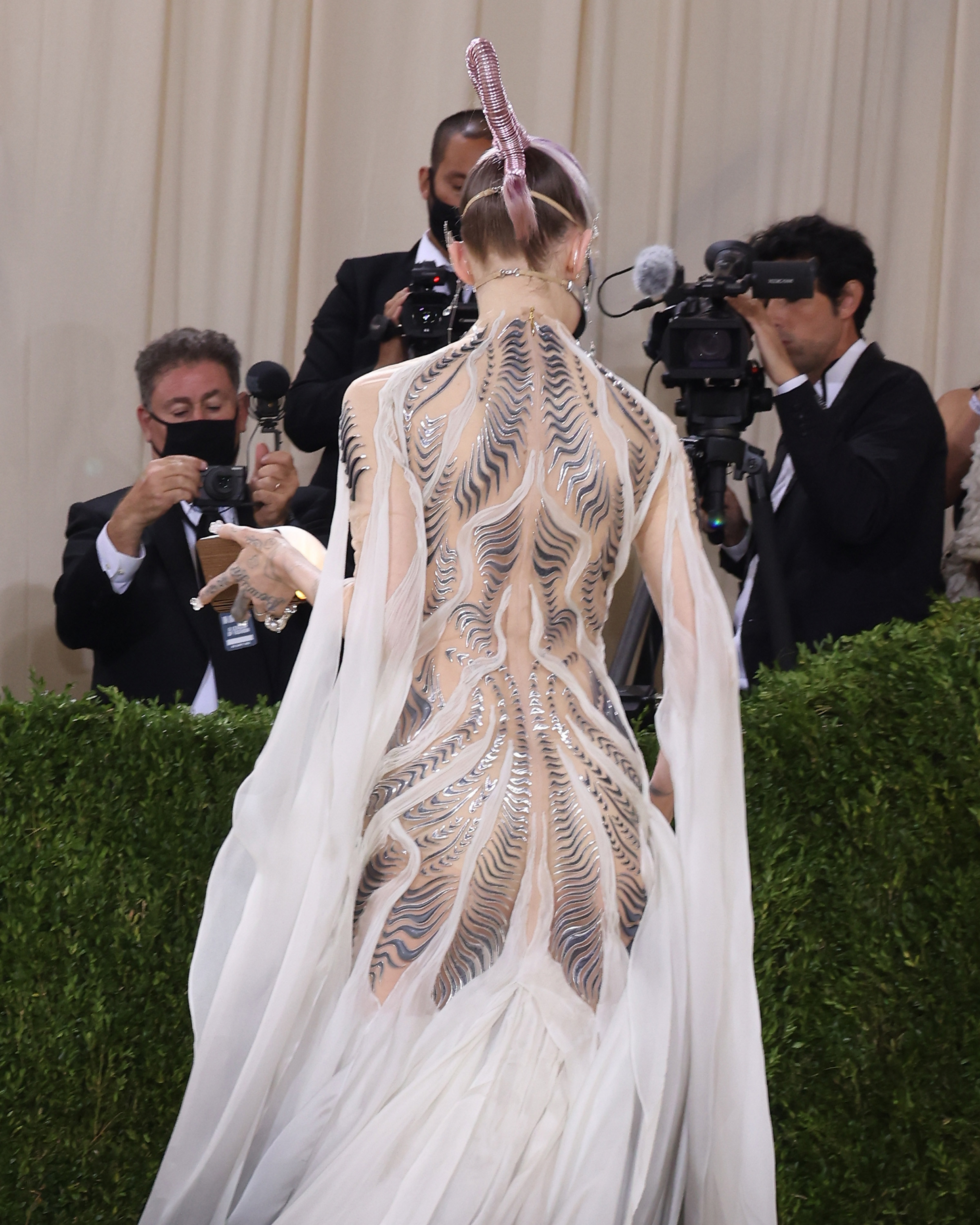 A look at Grimes dress from behind