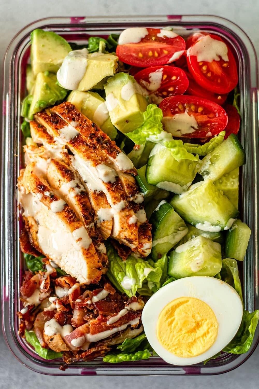 Easy Meal Prep Cobb Salad