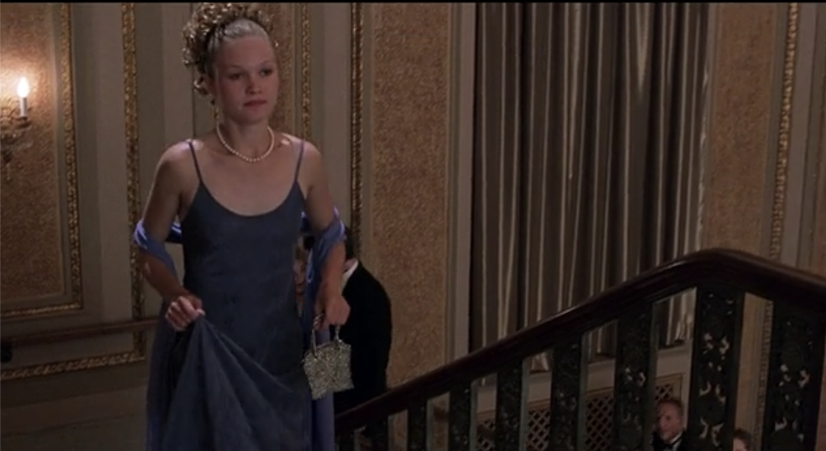Kat walking up the stairs