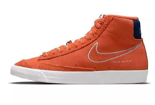 The orange sneakers