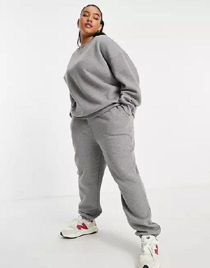 Model wearing the tracksuit