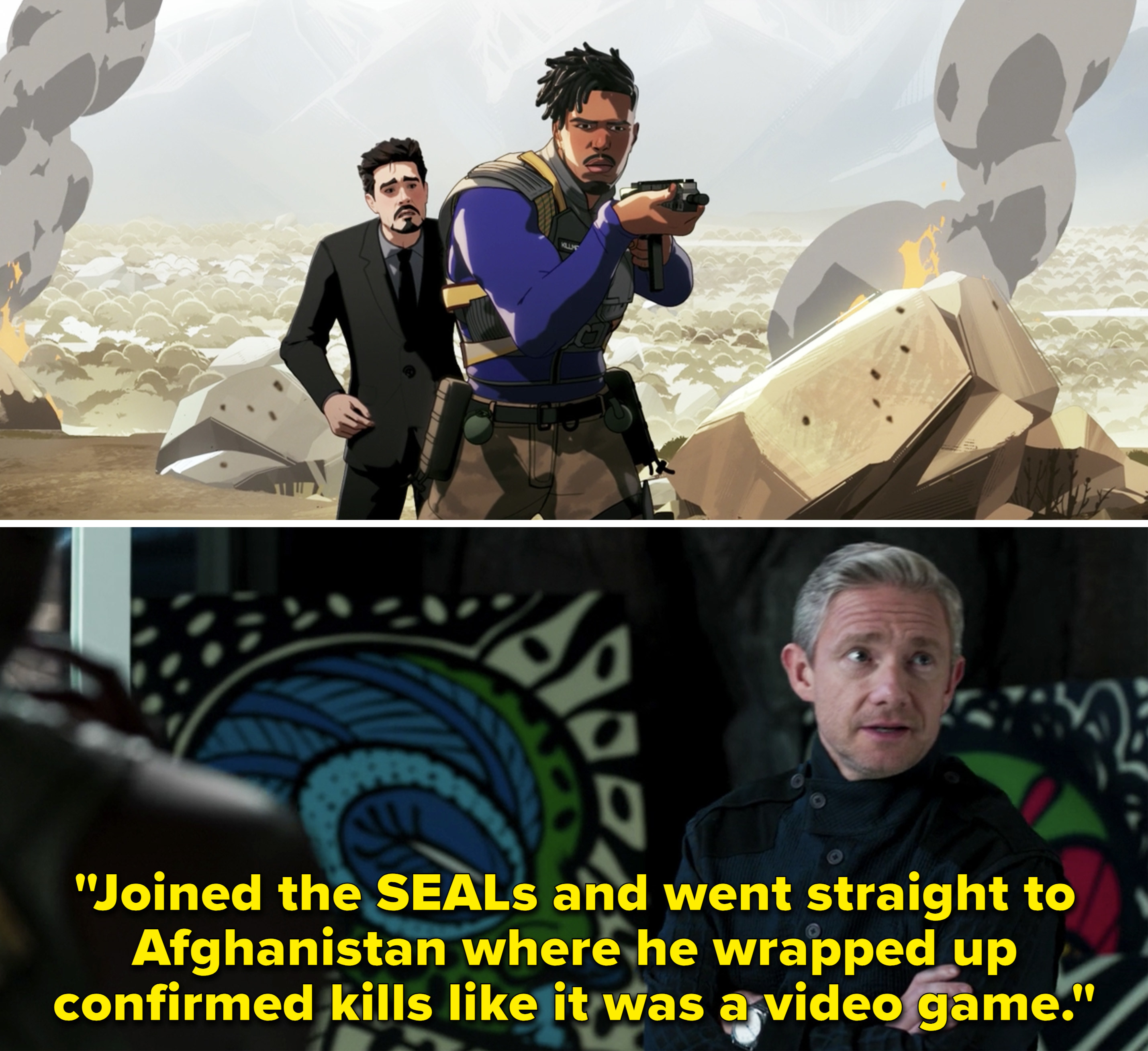 """Ross saying, """"Joined the SEALS and went straight to Afghanistan where he wrapped up confirmed kills like it was a video game"""""""