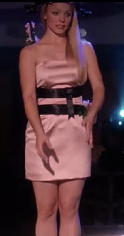 A close up of Regina's minidress