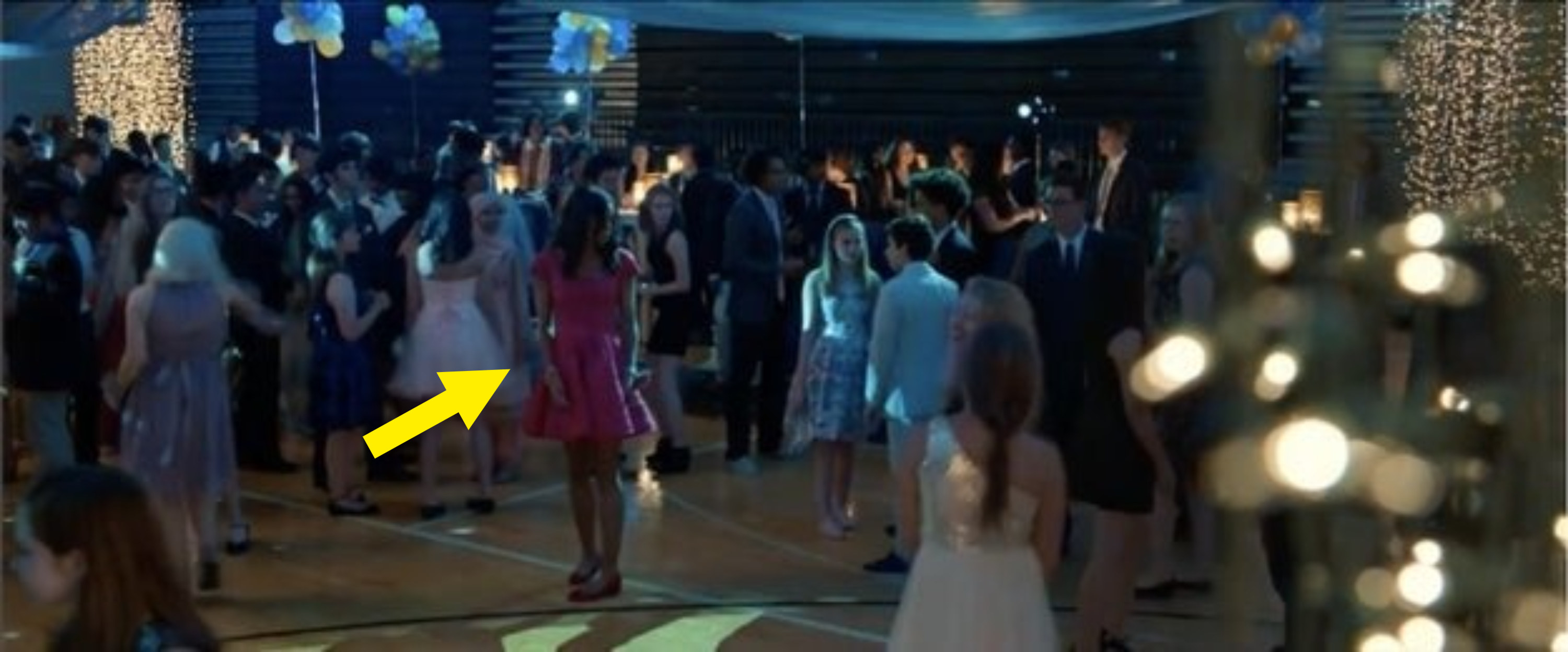 Liz left alone at the prom