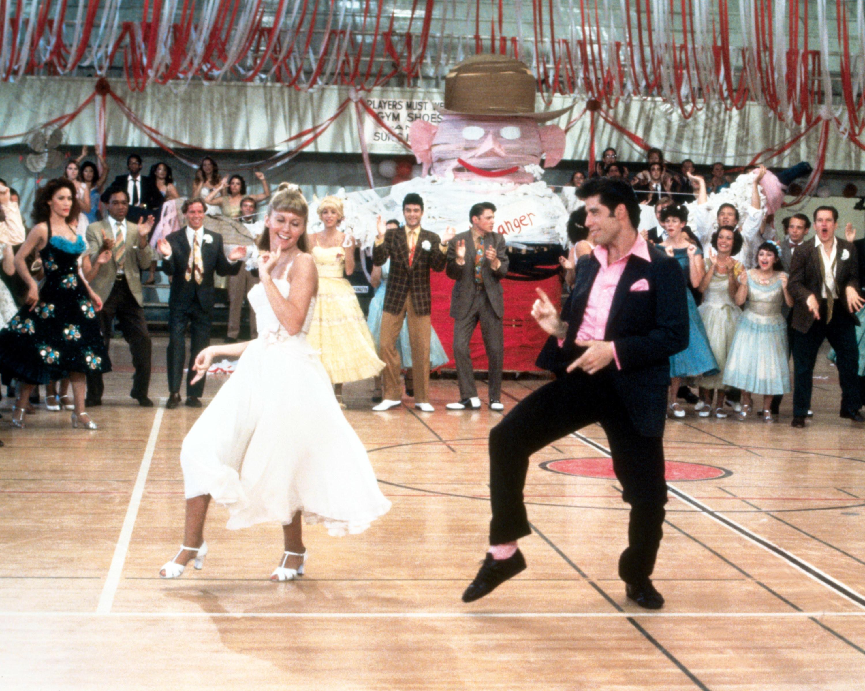 Sandy and Danny dancing