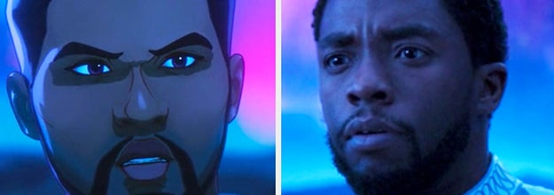 T'Challa in What If and Black Panther