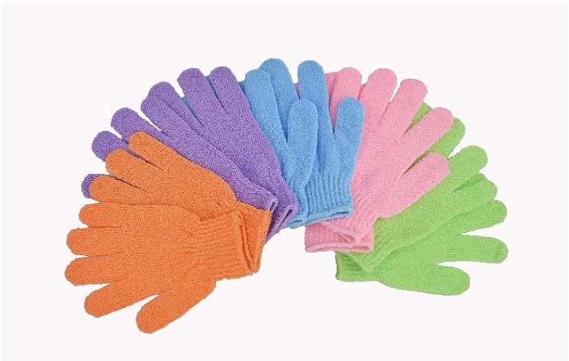 Foto de guantes exfoliantes para ducha