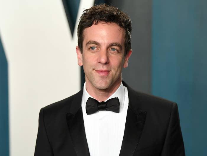 B.J. wears a tux at an award show
