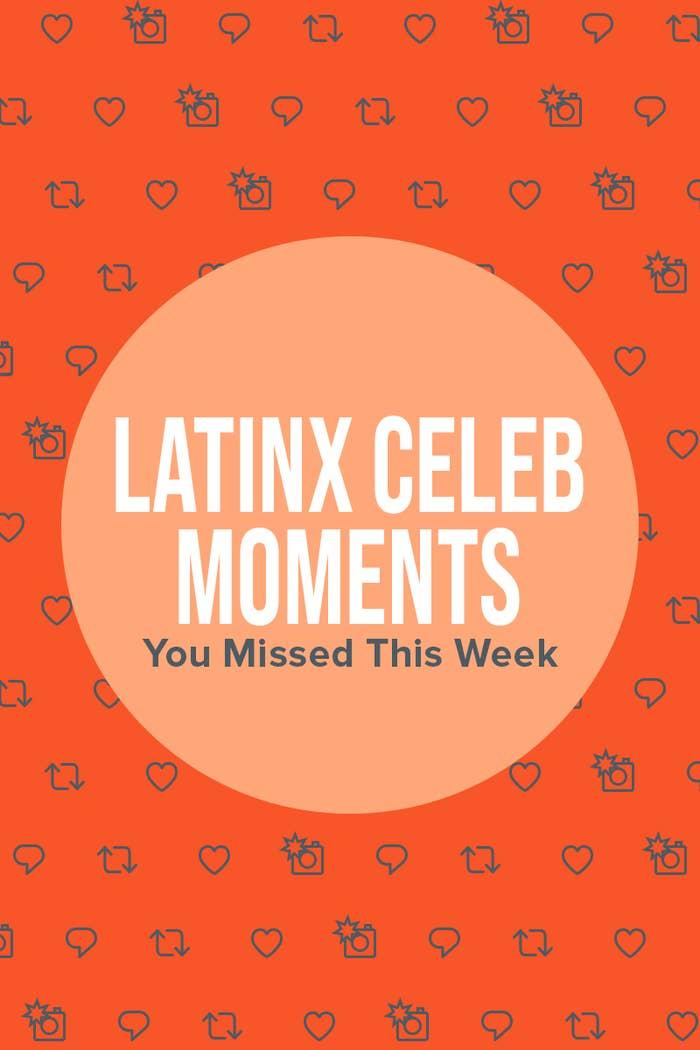 Latinx Celeb Moments orange header