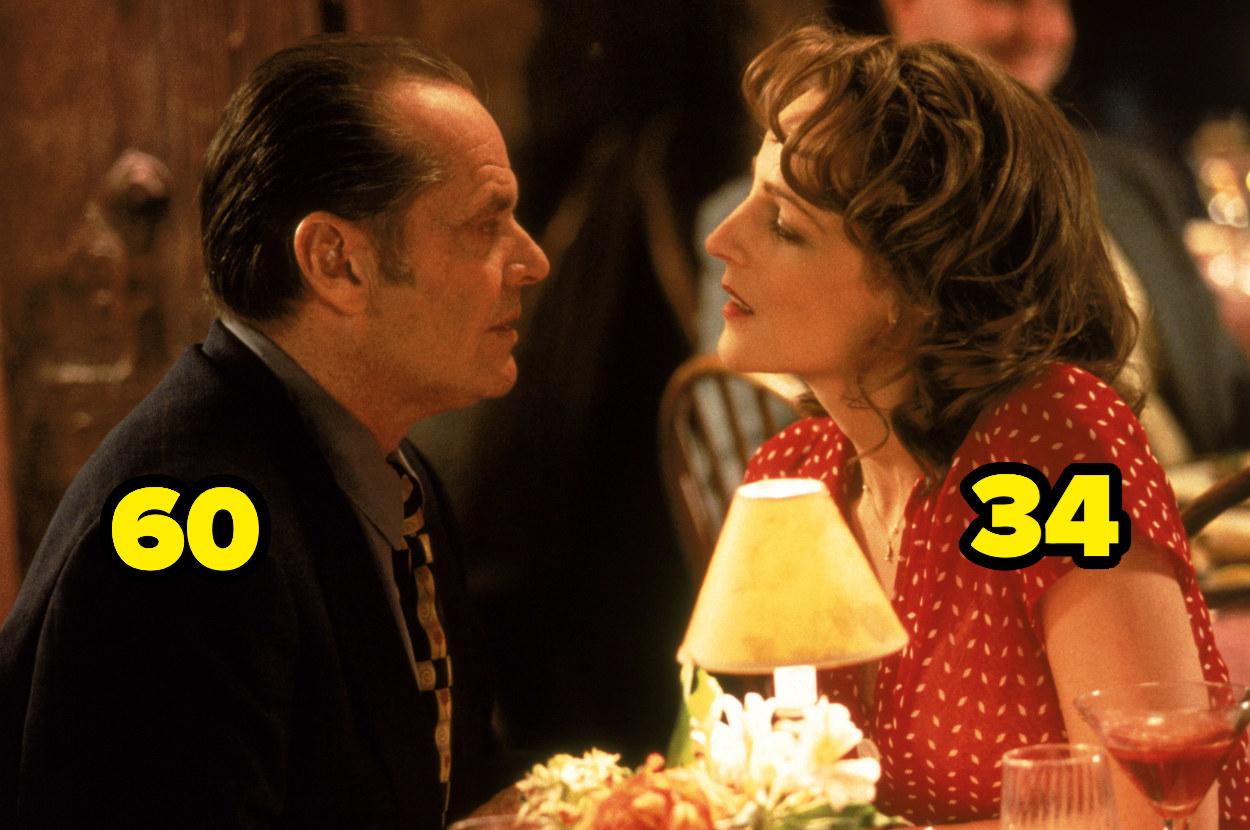 Jack Nicholson is 60 and Helen Hunt is 34