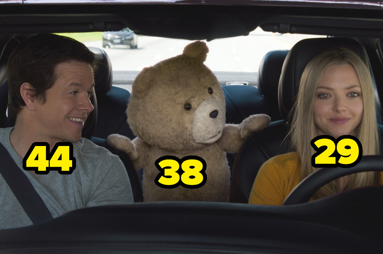 Mark Wahlberg is 44, Ted is 38, and Amanda Seyfried is 29