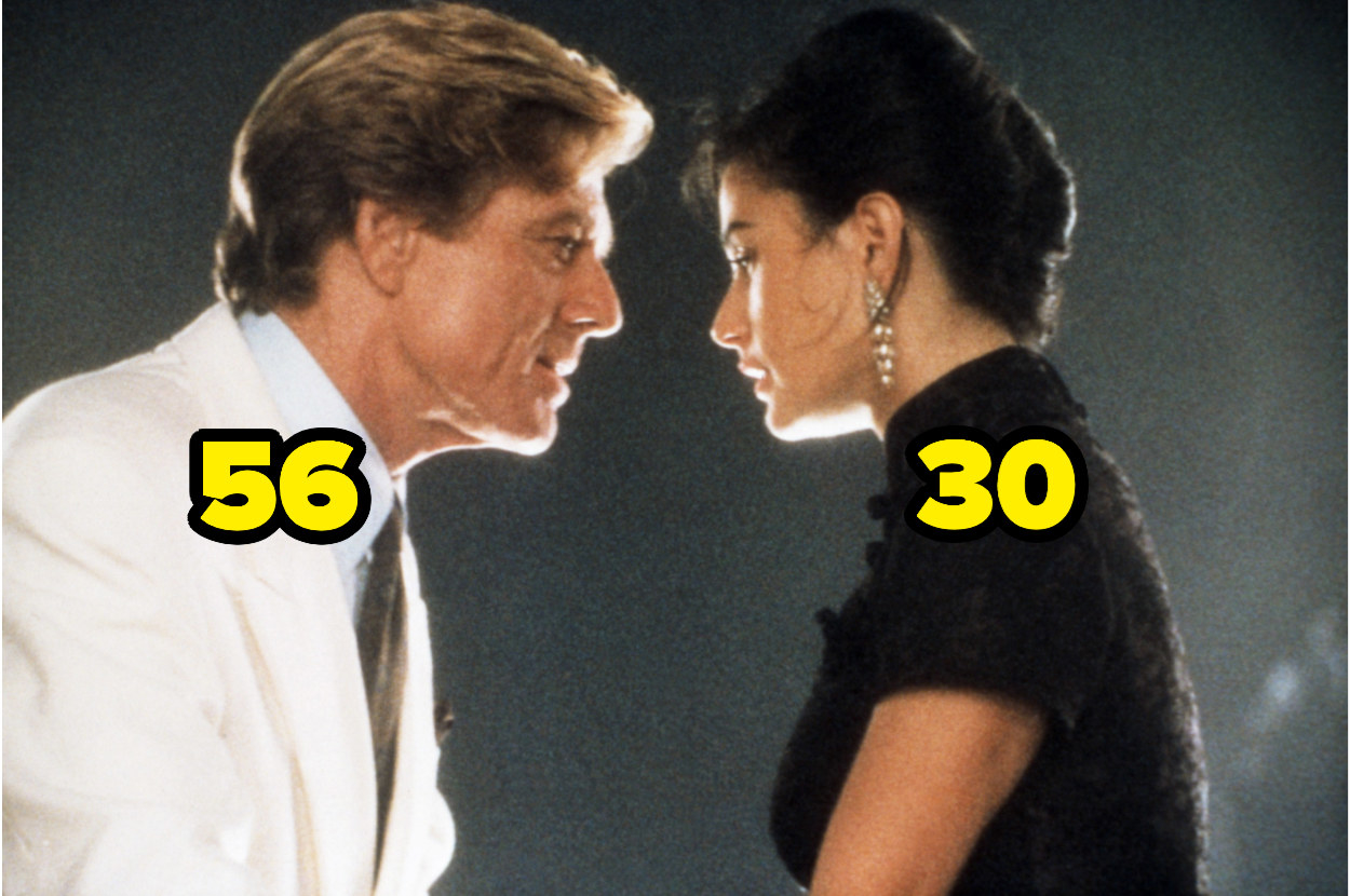 56-year-old Robert Redford looking at 30-year-old Demi Moore