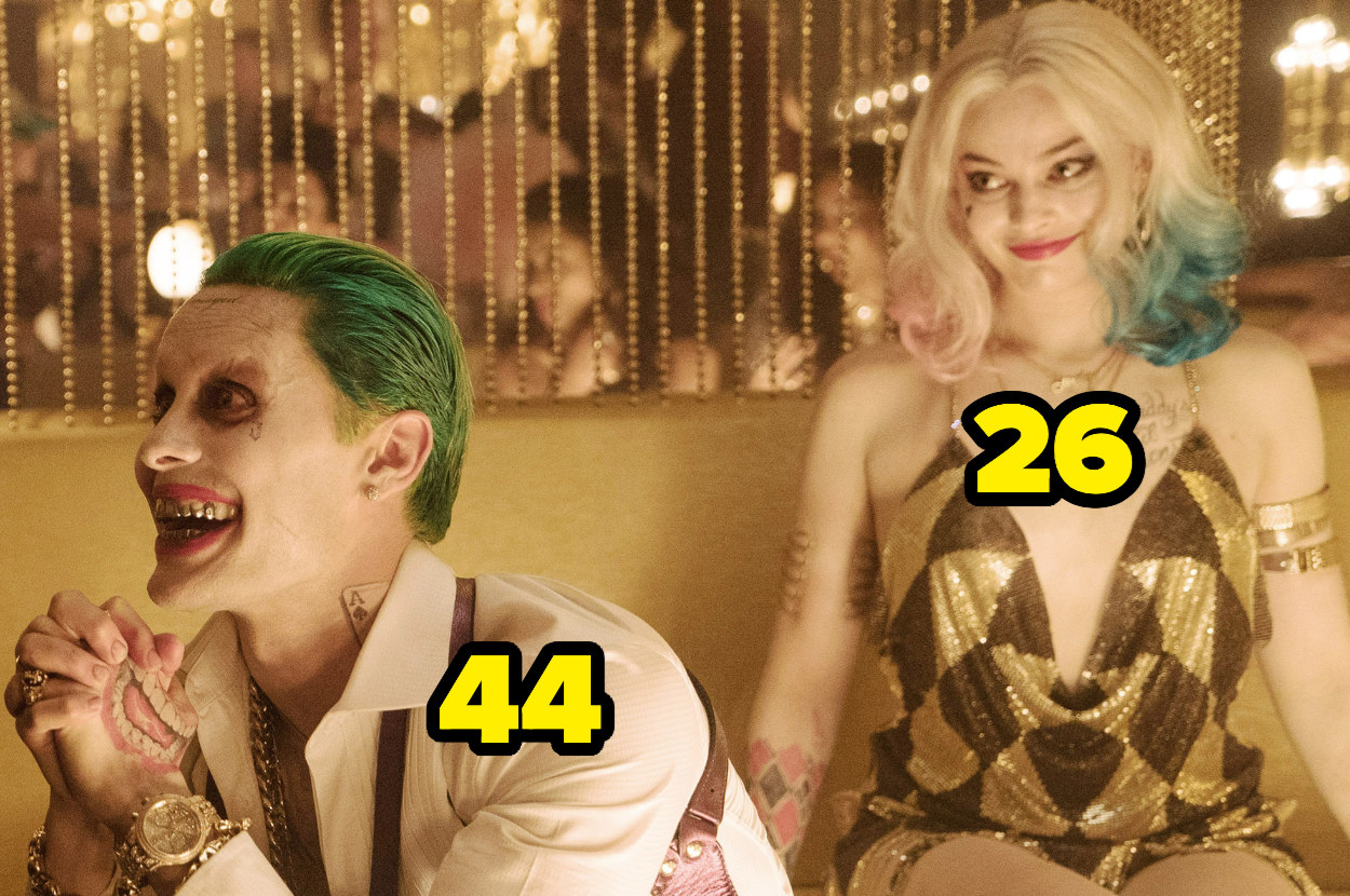 Jared Leto was 44 and Margot Robbie was 26