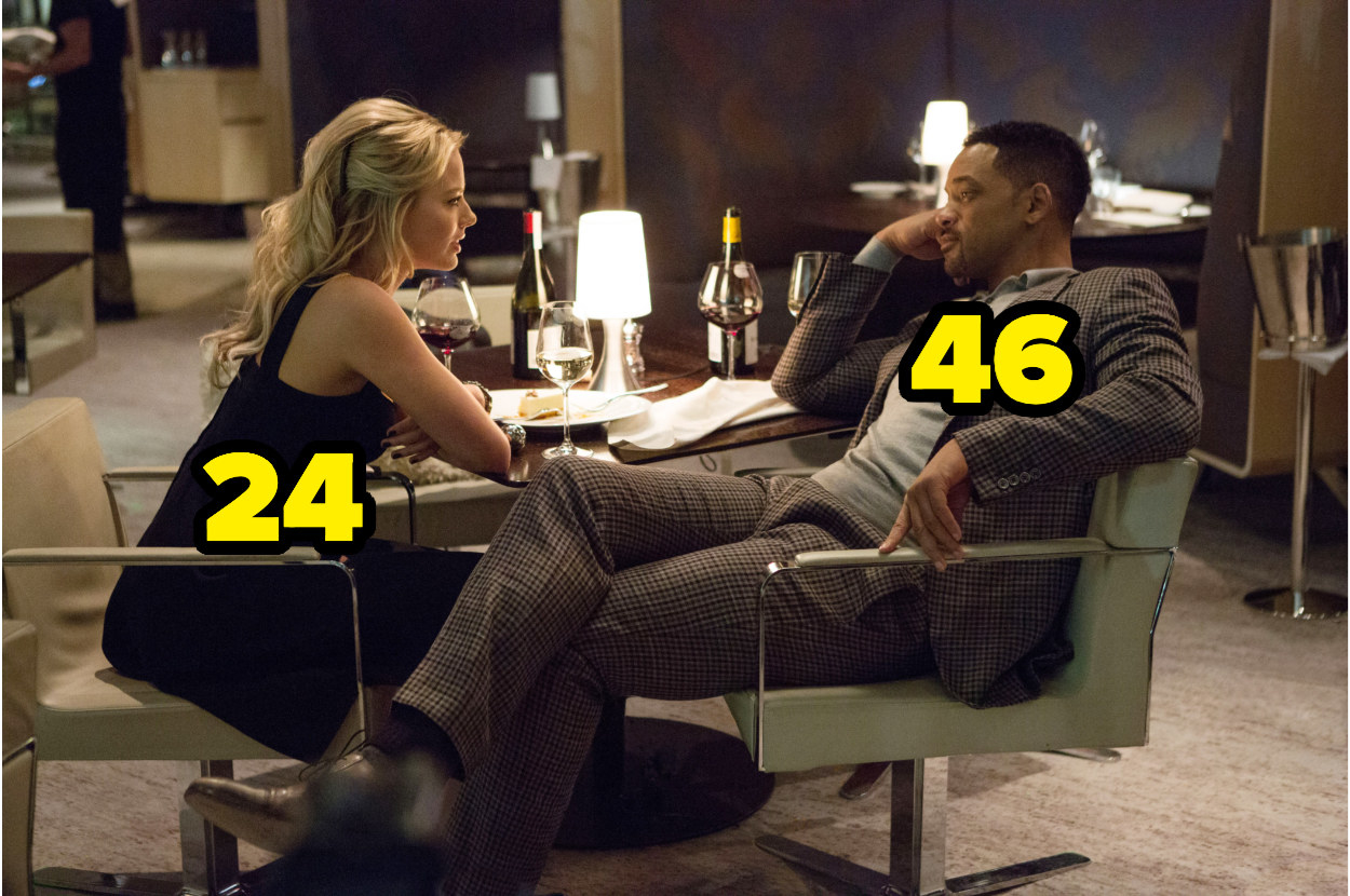 24-year-old Margot Robbie having dinner with 46-year-old Will Smith