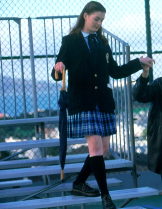"Mia walking down the bleachers in ""The Princess Diaries"""