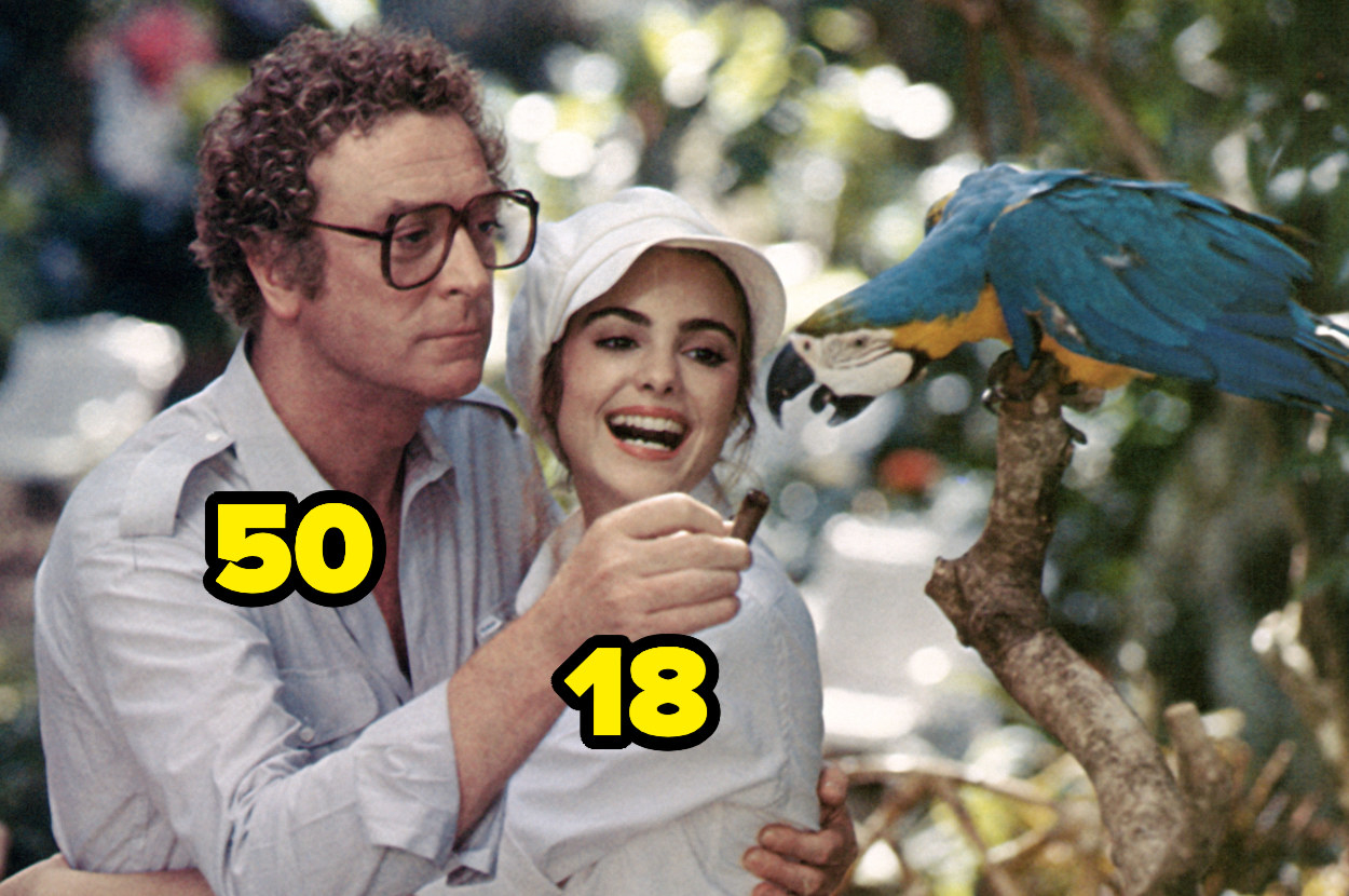 50-year-old Michael Caine with 18-year-old Michelle Johnson