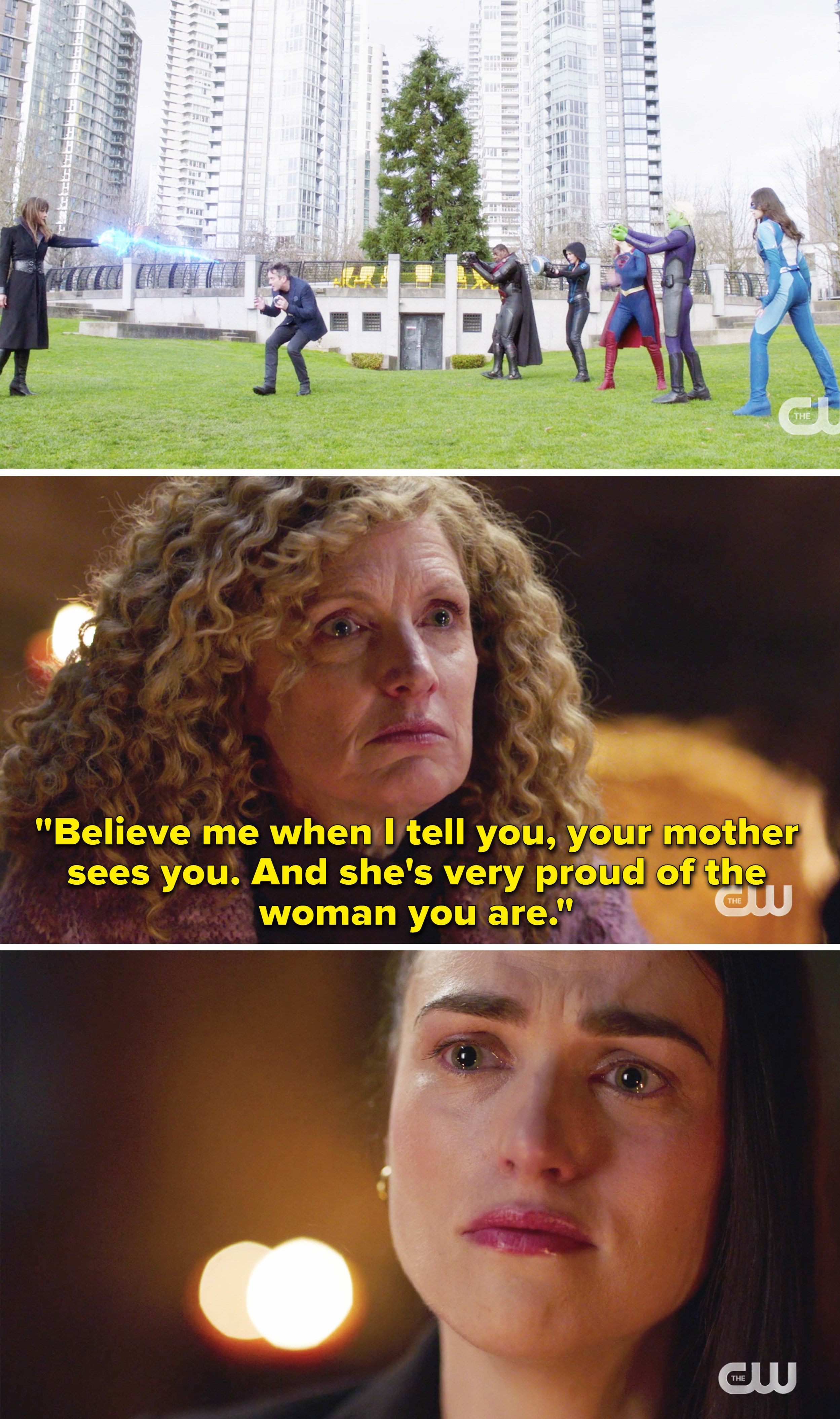 Lena hearing that her mother is proud of the woman she became