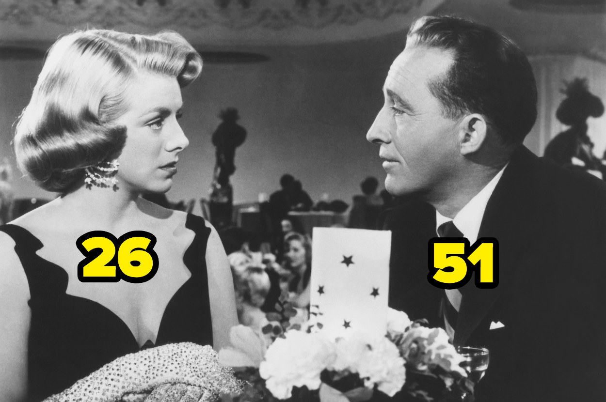 26-year-old Rosemary Clooney staring at 51-year-old Bing Crosby