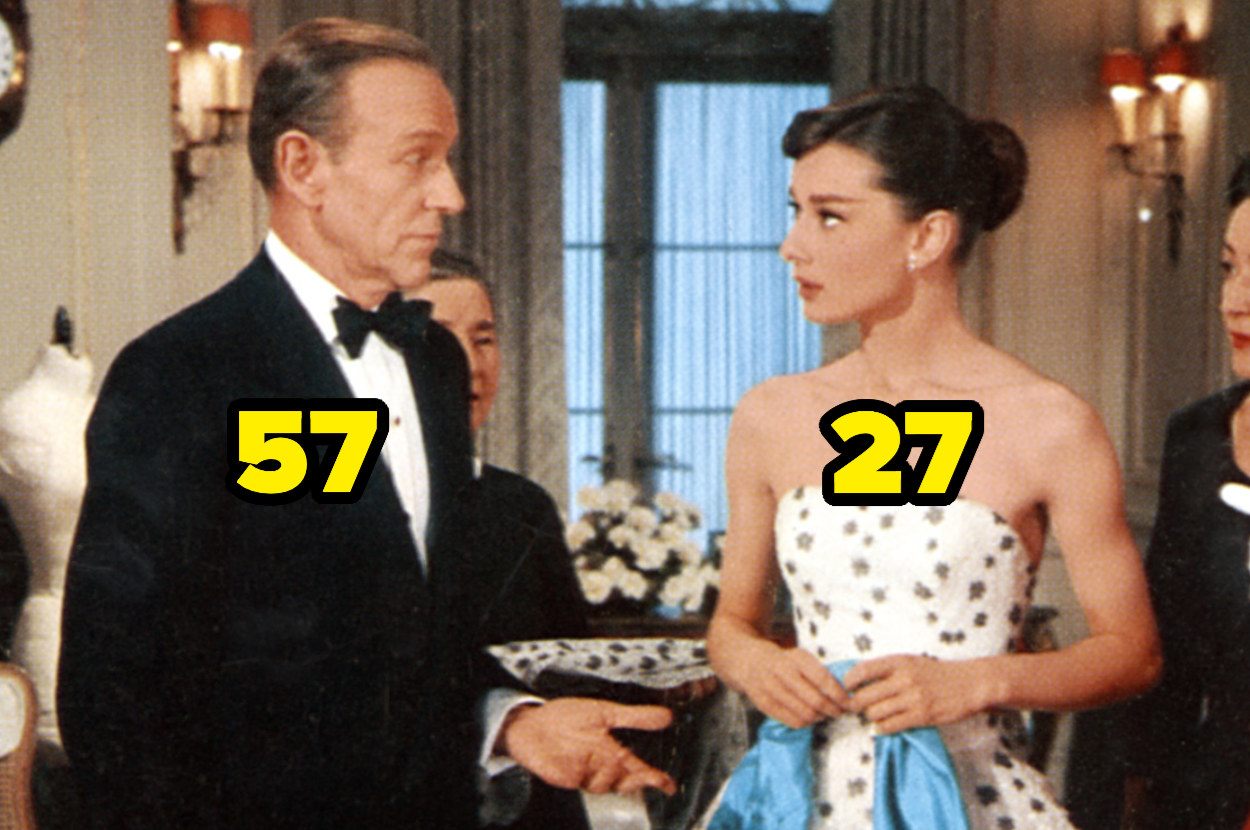 57-year-old Fred Astaire and 27-year-old Audrey Hepburn