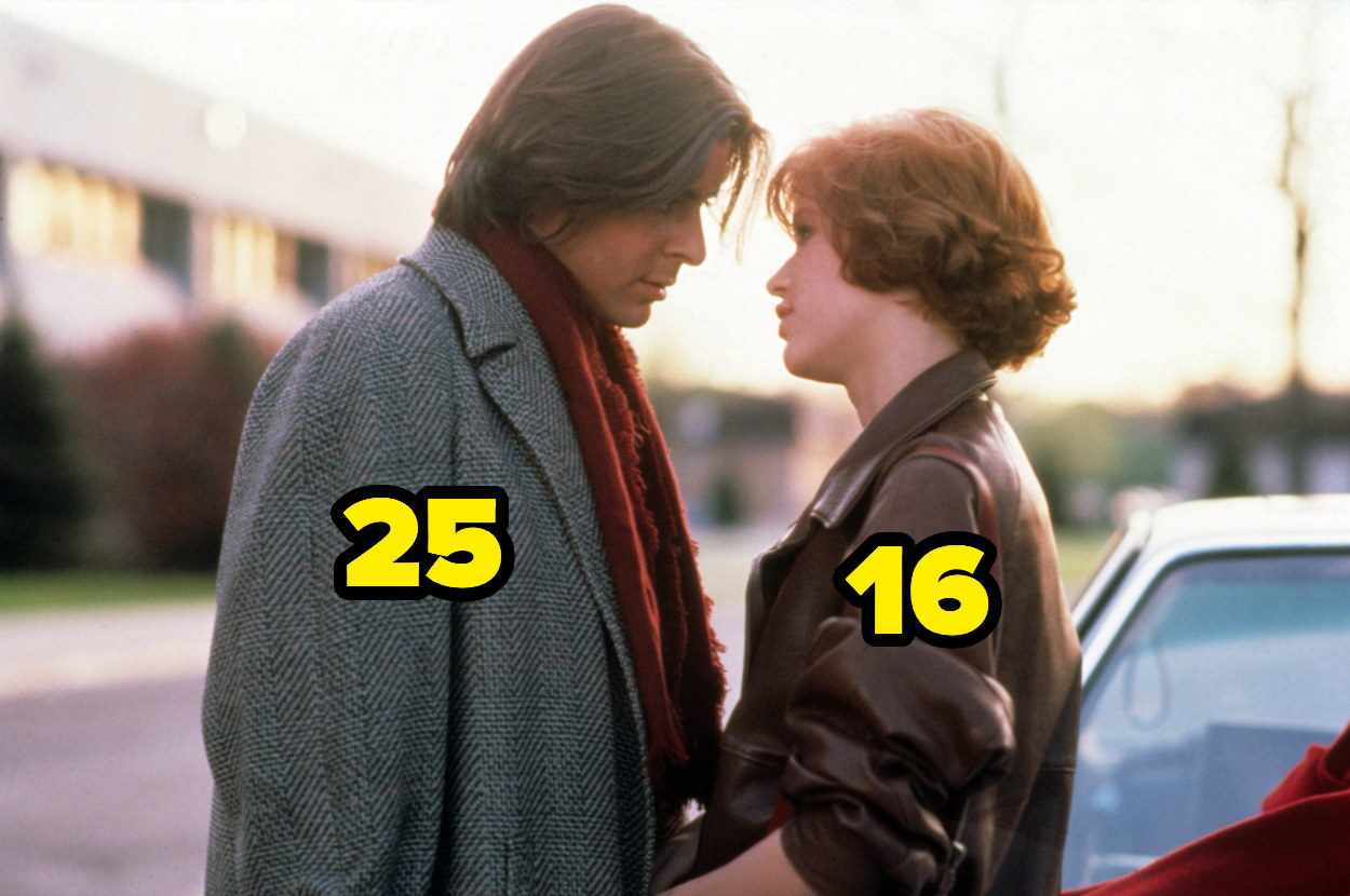 25-year-old Judd Nelson and 16-year-old Molly Ringwald