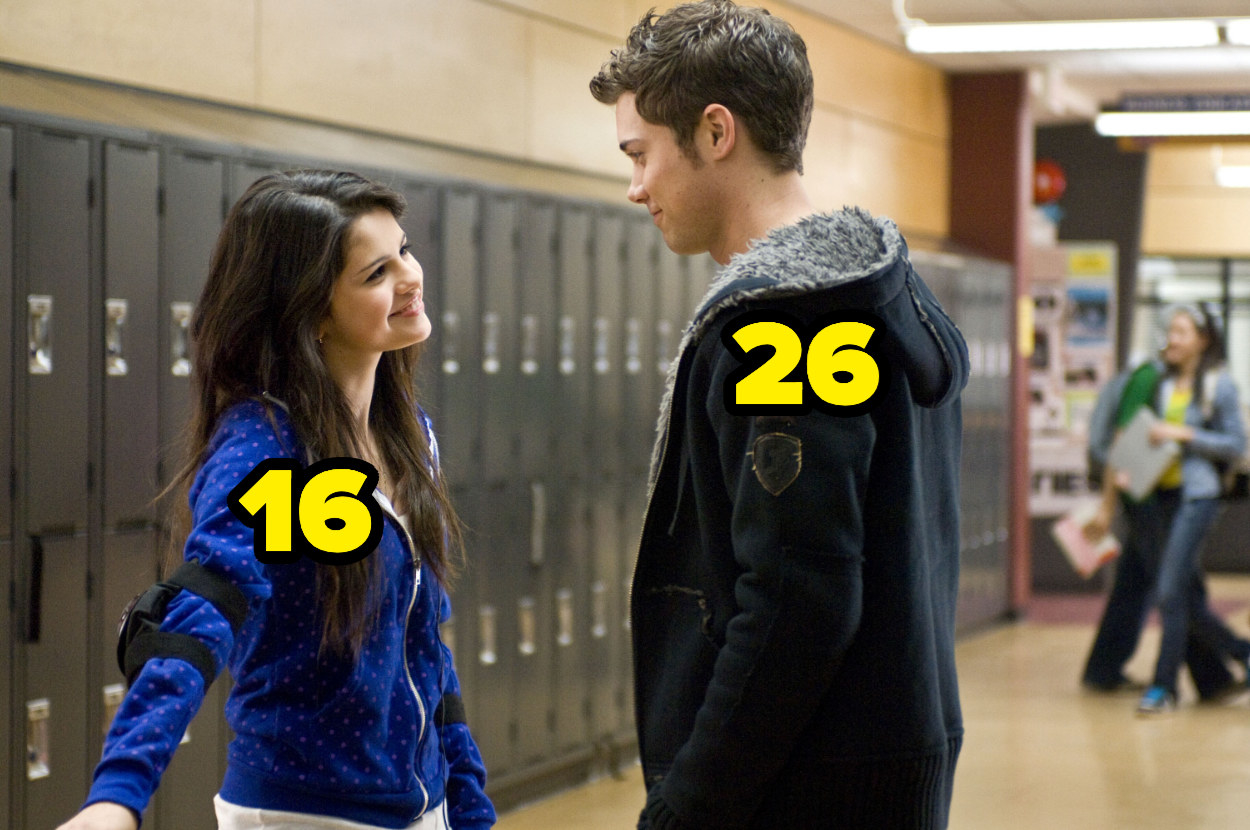 16-year-old Selena Gomez with 26-year-old Drew Seeley