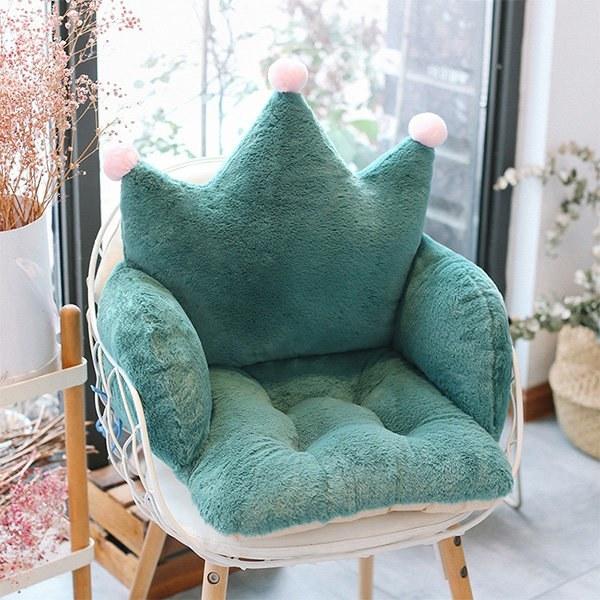 The crown cushion on a chair
