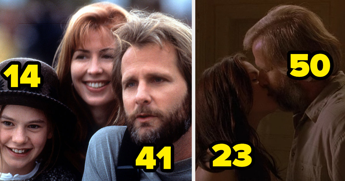 """14-year-old Anna Paquin playing 41-year-old Jeff Daniels' daughter in """"Fly Away Home,"""" and 23-year-old Anna kissing 50-year-old Jeff in """"The Squid and the Whale"""""""