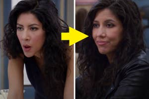 Rosa Diaz in the first episode vs the last