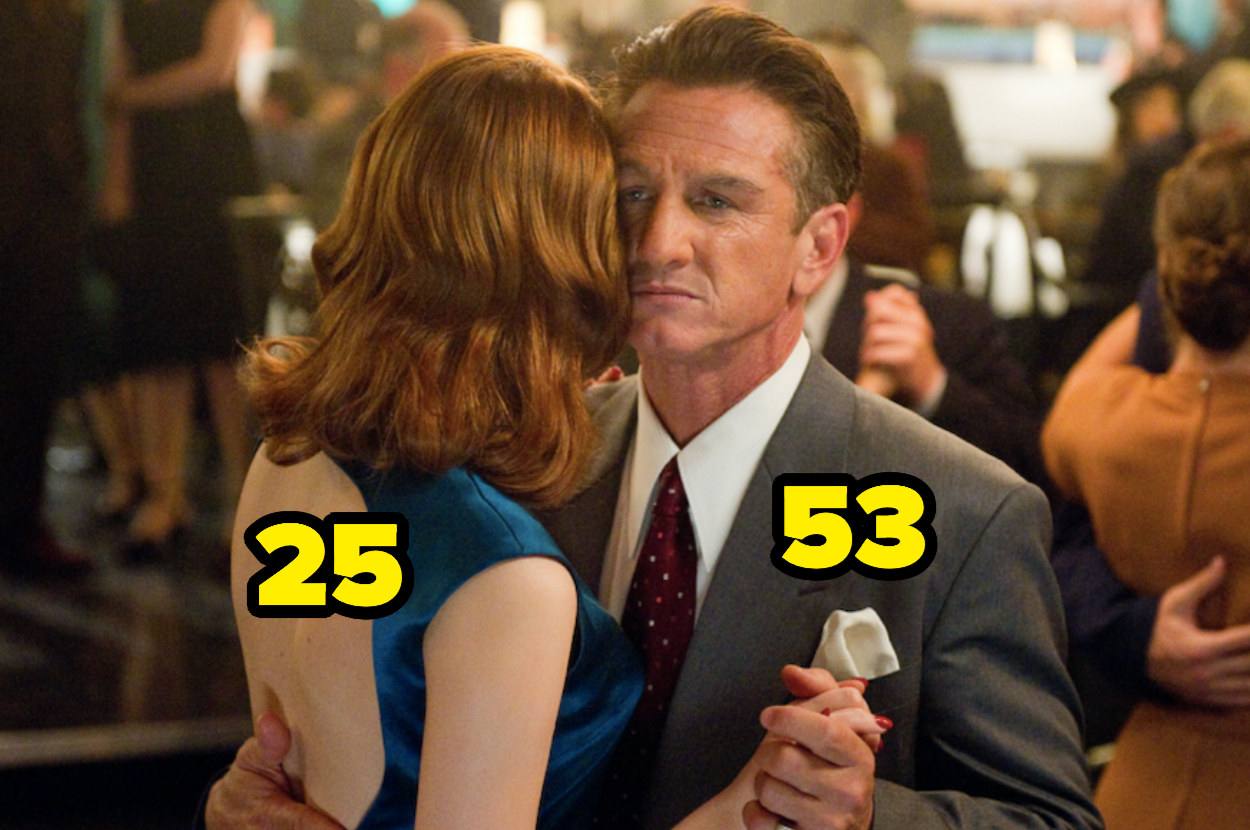 53-year-old Sean Penn dancing with 25-year-old Emma Stone