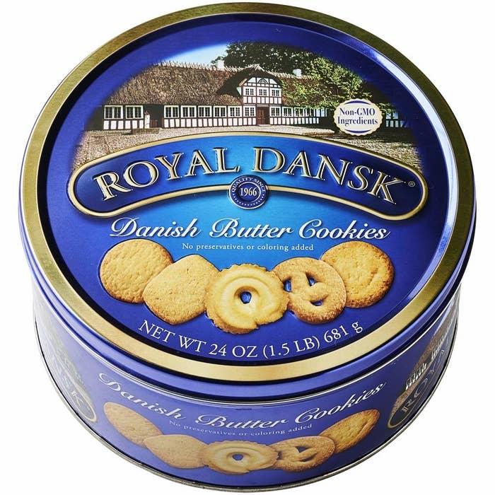 Royal Dansk butter cookies tin